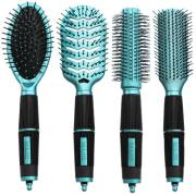 Hair Brush Kit 4 set - Salon Professional - turquoise