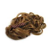 Ponytail Extensions with hair claw, curly - Lyse brun #6