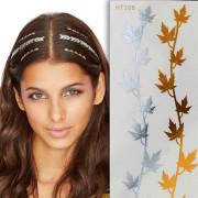 Flash Hair Tattoo - Gold & Silver, HT208