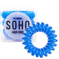 SOHO® Spiral Hair Ring Elastics, Royal Blue - 3 pcs