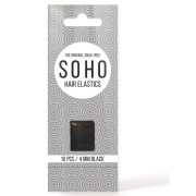 SOHO® Snag-Free Hair Elastics, Black - 10 pcs