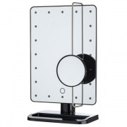 Miroir Maquillage UNIQ® Hollywood 21 LED Grossissement 10X - Noir
