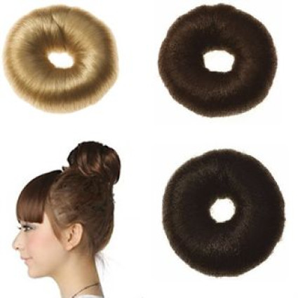 Medium– Donut / Bun (7 cm) - Cheveux synthétique