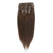 Synthétique extension Clip On - (60cm) - #4 Marron